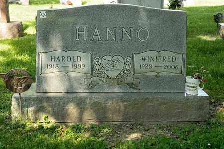 HANNO, WINIFRED - Richland County, Ohio | WINIFRED HANNO - Ohio Gravestone Photos