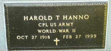 HANNO, HAROLD T - Richland County, Ohio | HAROLD T HANNO - Ohio Gravestone Photos