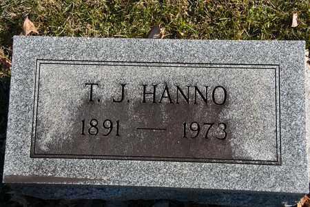 HANNO, T J - Richland County, Ohio | T J HANNO - Ohio Gravestone Photos