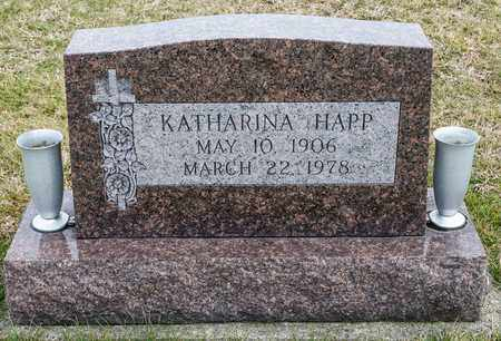 HAPP, KATHARINA - Richland County, Ohio | KATHARINA HAPP - Ohio Gravestone Photos