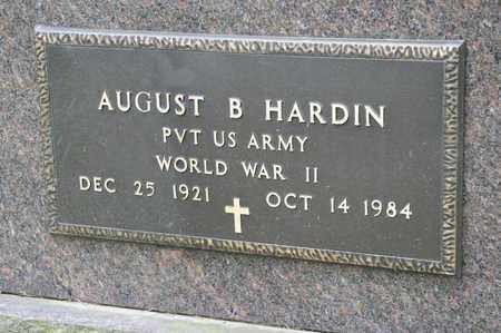 HARDIN, AUGUST B - Richland County, Ohio | AUGUST B HARDIN - Ohio Gravestone Photos
