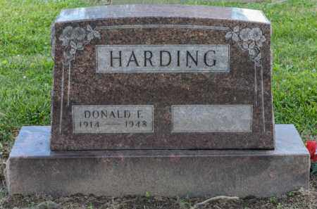 HARDING, DONALD F - Richland County, Ohio | DONALD F HARDING - Ohio Gravestone Photos