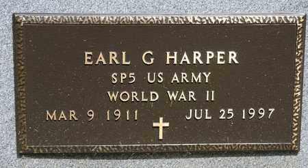HARPER, EARL G - Richland County, Ohio | EARL G HARPER - Ohio Gravestone Photos