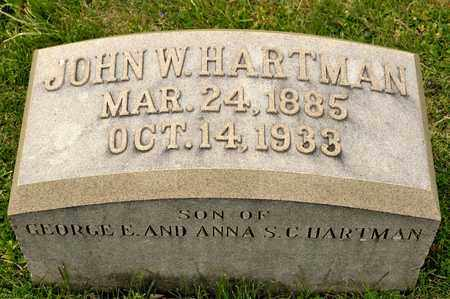HARTMAN, JOHN W - Richland County, Ohio | JOHN W HARTMAN - Ohio Gravestone Photos