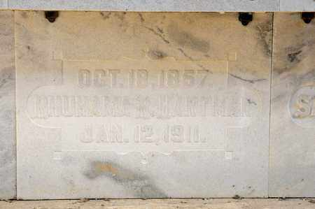 HARTMAN, RHUHAMA R - Richland County, Ohio | RHUHAMA R HARTMAN - Ohio Gravestone Photos