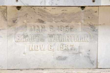 HARTMAN, SAMUEL W - Richland County, Ohio | SAMUEL W HARTMAN - Ohio Gravestone Photos