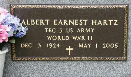 HARTZ, ALBERT EARNEST - Richland County, Ohio | ALBERT EARNEST HARTZ - Ohio Gravestone Photos