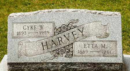 HARVEY, CYKE W - Richland County, Ohio | CYKE W HARVEY - Ohio Gravestone Photos