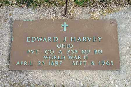 HARVEY, EDWARD J - Richland County, Ohio | EDWARD J HARVEY - Ohio Gravestone Photos