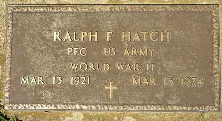 HATCH, RALPH F - Richland County, Ohio | RALPH F HATCH - Ohio Gravestone Photos
