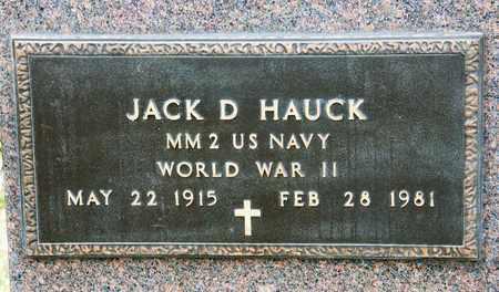 HAUCK, JACK D - Richland County, Ohio | JACK D HAUCK - Ohio Gravestone Photos