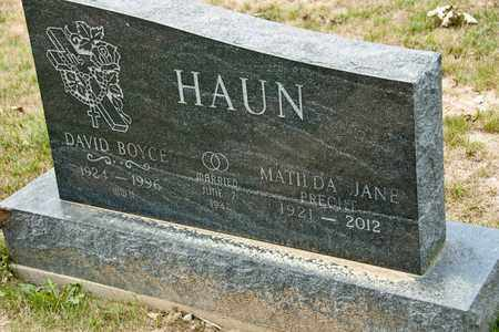 HAUN, DAVID BOYCE - Richland County, Ohio | DAVID BOYCE HAUN - Ohio Gravestone Photos