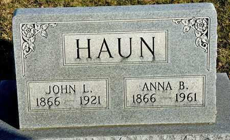 HAUN, JOHN L - Richland County, Ohio | JOHN L HAUN - Ohio Gravestone Photos