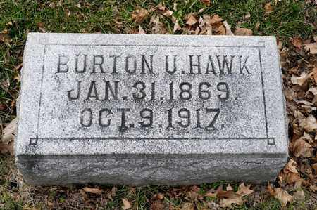 HAWK, BURTON U - Richland County, Ohio | BURTON U HAWK - Ohio Gravestone Photos