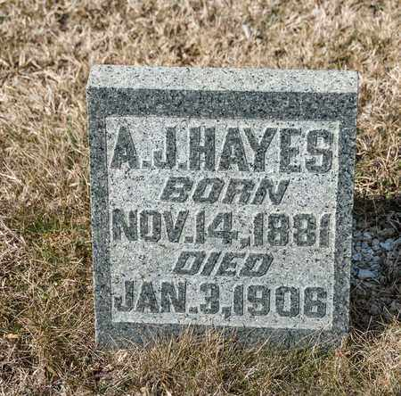 HAYES, A J - Richland County, Ohio | A J HAYES - Ohio Gravestone Photos