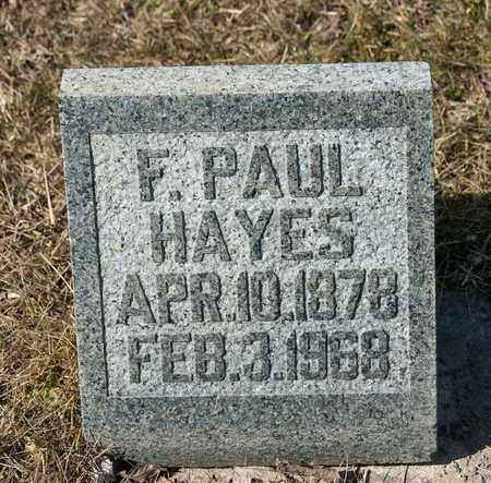 HAYES, F PAUL - Richland County, Ohio | F PAUL HAYES - Ohio Gravestone Photos