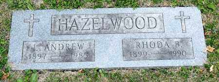 HAZELWOOD, RHODA B - Richland County, Ohio | RHODA B HAZELWOOD - Ohio Gravestone Photos