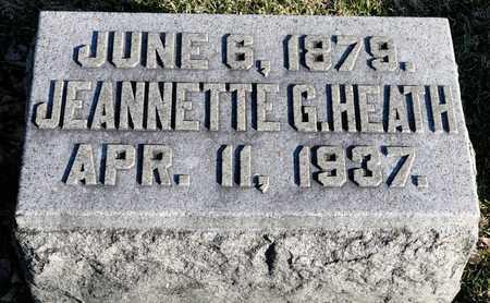 HEATH, JEANNETTE G - Richland County, Ohio | JEANNETTE G HEATH - Ohio Gravestone Photos