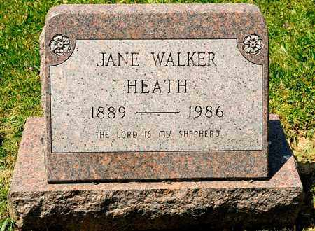 WALKER HEATH, JANE - Richland County, Ohio | JANE WALKER HEATH - Ohio Gravestone Photos