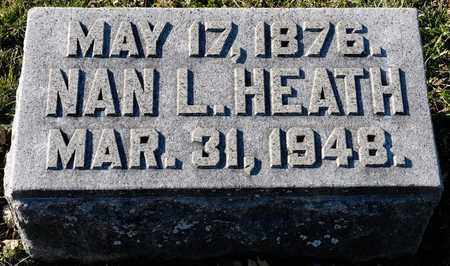 HEATH, NAN L - Richland County, Ohio | NAN L HEATH - Ohio Gravestone Photos