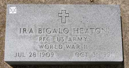 HEATON, IRA BIGALO - Richland County, Ohio | IRA BIGALO HEATON - Ohio Gravestone Photos