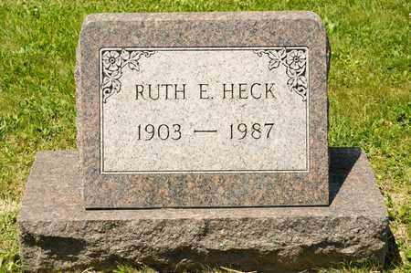 HECK, RUTH E - Richland County, Ohio | RUTH E HECK - Ohio Gravestone Photos