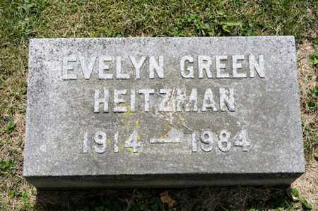 GREEN HEITZMAN, EVELYN - Richland County, Ohio | EVELYN GREEN HEITZMAN - Ohio Gravestone Photos