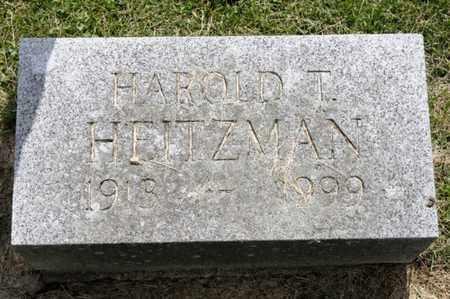 HEITZMAN, HAROLD T - Richland County, Ohio | HAROLD T HEITZMAN - Ohio Gravestone Photos