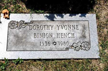 BINION HENCH, DOROTHY YVONNE - Richland County, Ohio | DOROTHY YVONNE BINION HENCH - Ohio Gravestone Photos
