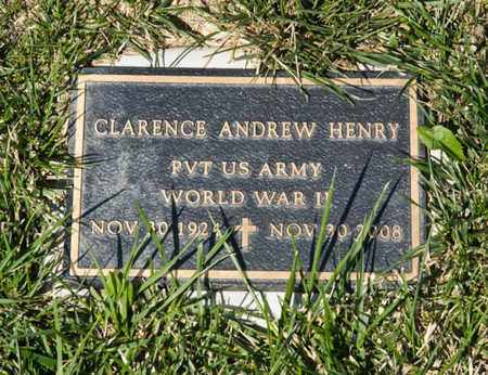 HENRY, CLARENCE ANDREW - Richland County, Ohio | CLARENCE ANDREW HENRY - Ohio Gravestone Photos