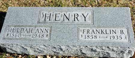 HENRY, HULDAH ANN - Richland County, Ohio | HULDAH ANN HENRY - Ohio Gravestone Photos