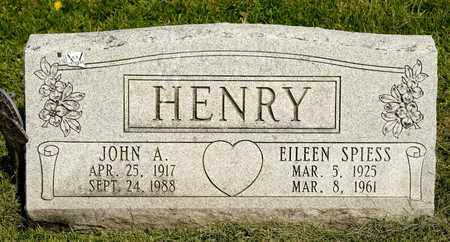SPIESS HENRY, EILEEN - Richland County, Ohio | EILEEN SPIESS HENRY - Ohio Gravestone Photos
