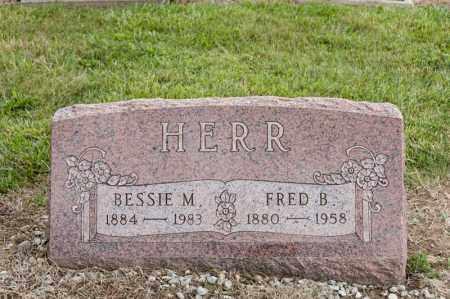 HERR, FRED B - Richland County, Ohio | FRED B HERR - Ohio Gravestone Photos
