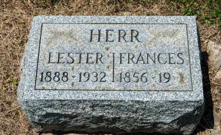HERR, FRANCES - Richland County, Ohio | FRANCES HERR - Ohio Gravestone Photos
