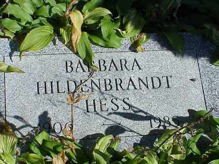 HESS, BARBARA HILDENBRANDT - Richland County, Ohio | BARBARA HILDENBRANDT HESS - Ohio Gravestone Photos