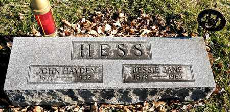 HESS, BESSIE JANE - Richland County, Ohio | BESSIE JANE HESS - Ohio Gravestone Photos