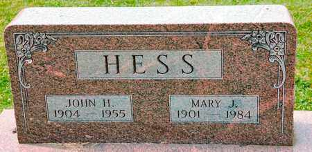 HESS, MARY J - Richland County, Ohio | MARY J HESS - Ohio Gravestone Photos