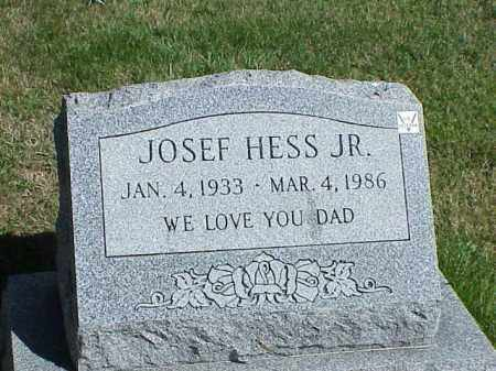 HESS, JR., JOSEF - Richland County, Ohio | JOSEF HESS, JR. - Ohio Gravestone Photos