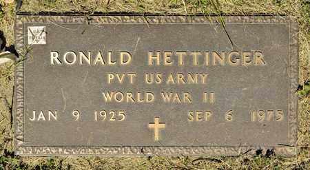 HETTINGER, RONALD - Richland County, Ohio | RONALD HETTINGER - Ohio Gravestone Photos