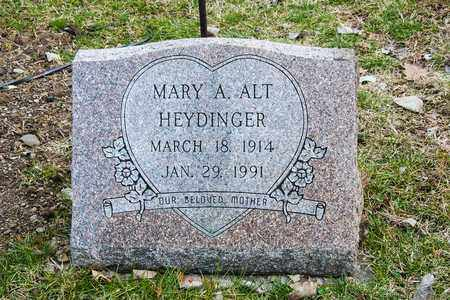 ALT HEYDINGER, MARY A - Richland County, Ohio | MARY A ALT HEYDINGER - Ohio Gravestone Photos