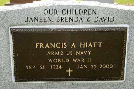 HIATT, FRANCIS A - Richland County, Ohio | FRANCIS A HIATT - Ohio Gravestone Photos