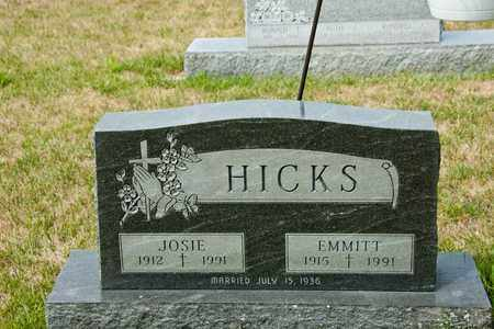 HICKS, JOSIE - Richland County, Ohio | JOSIE HICKS - Ohio Gravestone Photos