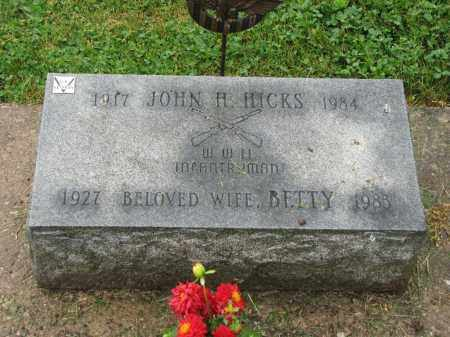 HICKS, BETTY - Richland County, Ohio | BETTY HICKS - Ohio Gravestone Photos