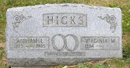 HICKS, WILLIAM L - Richland County, Ohio | WILLIAM L HICKS - Ohio Gravestone Photos