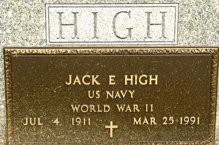 HIGH, JACK E - Richland County, Ohio | JACK E HIGH - Ohio Gravestone Photos