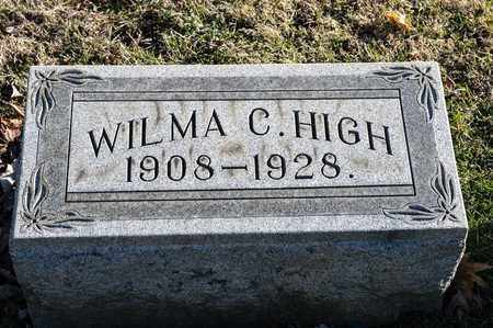 HIGH, WILMA C - Richland County, Ohio | WILMA C HIGH - Ohio Gravestone Photos