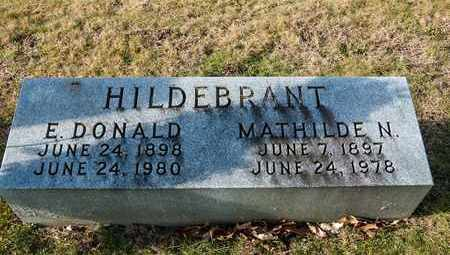 HILDEBRANT, E DONALD - Richland County, Ohio | E DONALD HILDEBRANT - Ohio Gravestone Photos