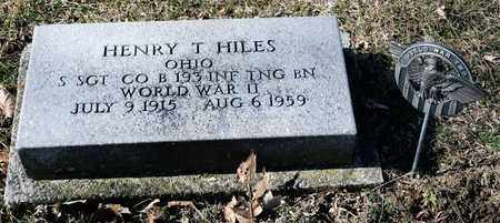 HILES, HENRY T - Richland County, Ohio | HENRY T HILES - Ohio Gravestone Photos
