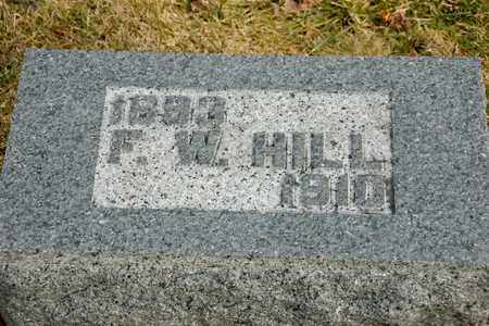 HILL, F W - Richland County, Ohio | F W HILL - Ohio Gravestone Photos