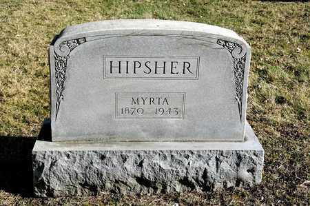 HIPSHER, MYRTA - Richland County, Ohio | MYRTA HIPSHER - Ohio Gravestone Photos